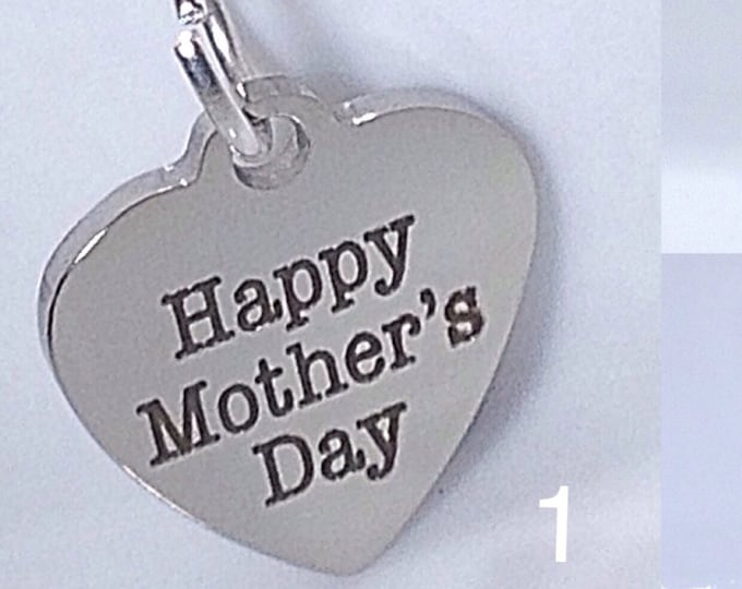 Choice Of - Custom Mothers Day Charms Add-On Charm Necklace, Mom Charms, Nana, Grandmother Charms,  Bracelet, Bracelet Charms  zmw1999-1