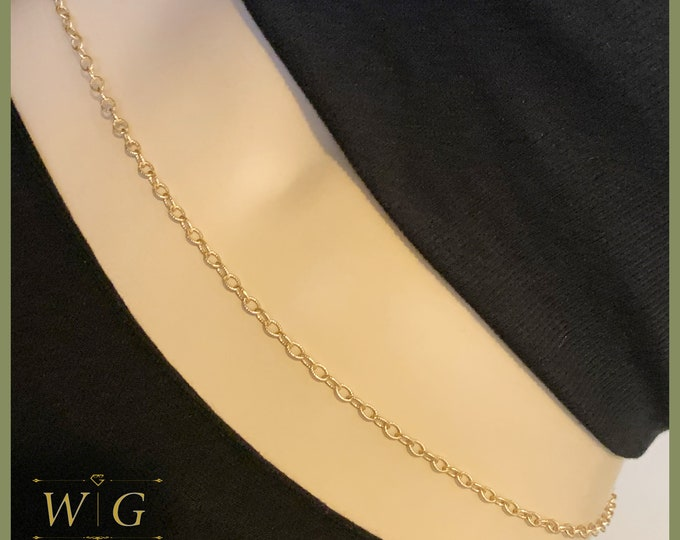 14k Gold Textured Cable Waist Chain, 14k Gold Belly Chain, Waist bead, Waisted Gems, 14k Gold Filled Waist Chain