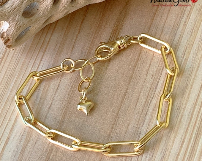 14k Large Box Chain Bracelets, Anchor Chain, Layering Chain, Milano link Chain, Large Link Chain Bracelet, Sterling Silver Link Chain