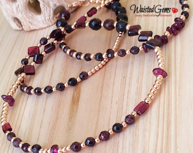Illuminating Waist Beads, African Waist Beads, Gemstone Waist bead, Charka Waist Beads, Garnet Waist Beads, Plus Size Waist Beads  zmw23144
