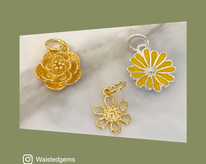 Mixed Babe Flower Charm Choices