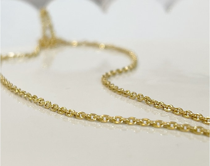 14k Diamond Cut 1.3mm Cable Waist Chain,14k Gold Belly Chain, Plus Size Waist Chain, Waisted Gems,Body Chain,Christmas, Minimal Waist Chain