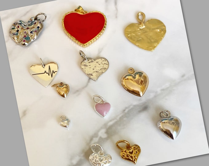 Mixed Babe Heart Charm Choices