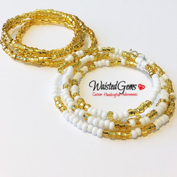 12 Pieces Jewelry Waist Bead Set African Waist Beads Body Beads Belly Chain Bikini Jewelry for Summer Women Girls