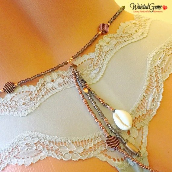 Intention to seduce Waist Beads, Belly Chain, Body Beads, Copper Waist Bead,Black Waist Beads, Waist beads with Charms zmw4434.9