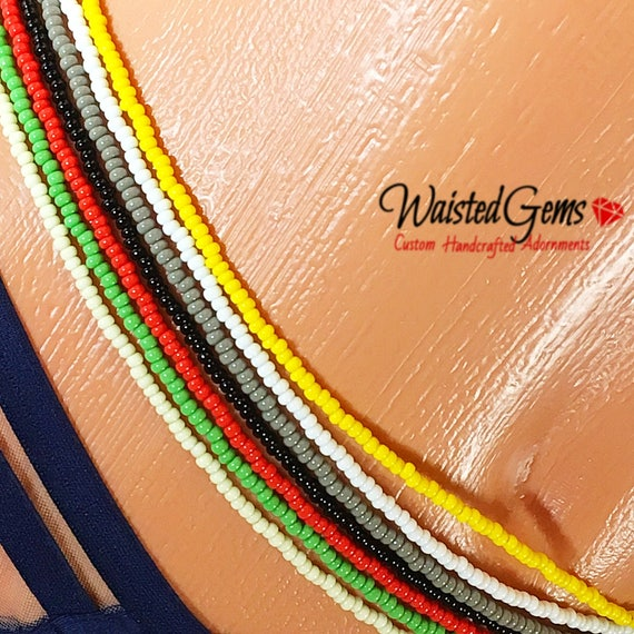 Color Choice Simple Strand Waist Beads, body beads, belly chain, african waist beads, bikini, zmw9991