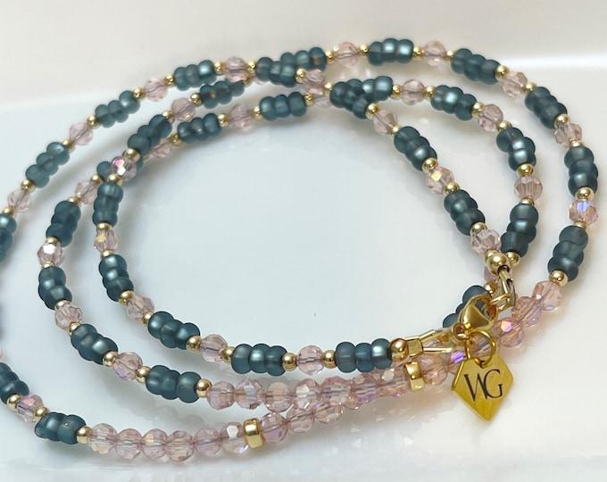50 Shades Waist beads | Gray Waist Beads | Pink | Gifts For Her | Waist Chain | Plus Size African Waist Beads | Waist Beads w/ Clasp