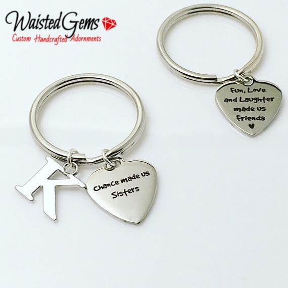 Sisters Custom Charm Keychain, Birthday Gifts,Gift for her zmw9.14
