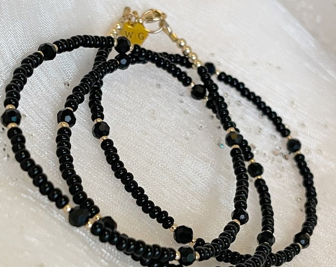 Black and Gold Waist Beads, Belly Chain, Gifts for her, African Waist Beads, Waist Chain, Black Waist Beads, Gold Waist Beads