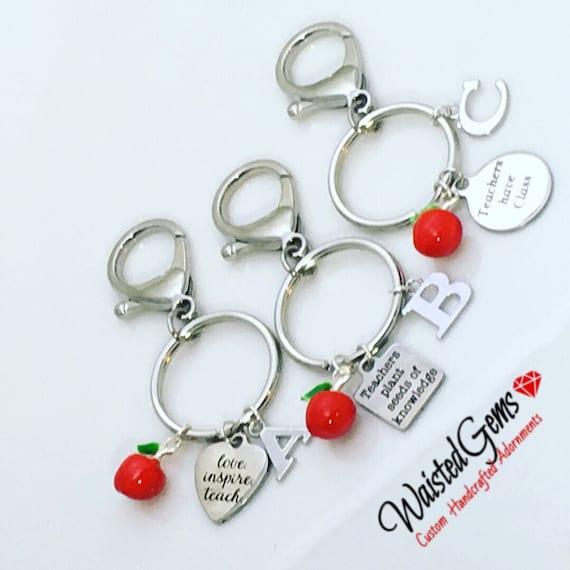 Choice of Teachers Custom Stainless Steal Charm Keychain, Teachers Gifts, Stocking Stuffers, Secret Santa, Gift Idea, Keys, Locks