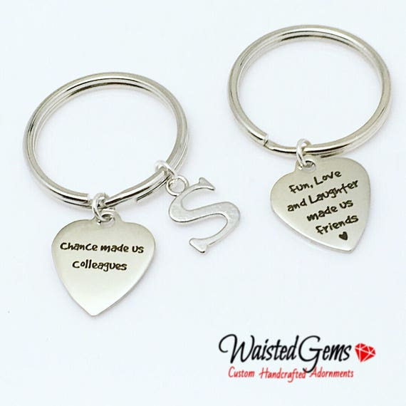 Colleagues Custom Charm Keychain Birthday Gifts Graduation