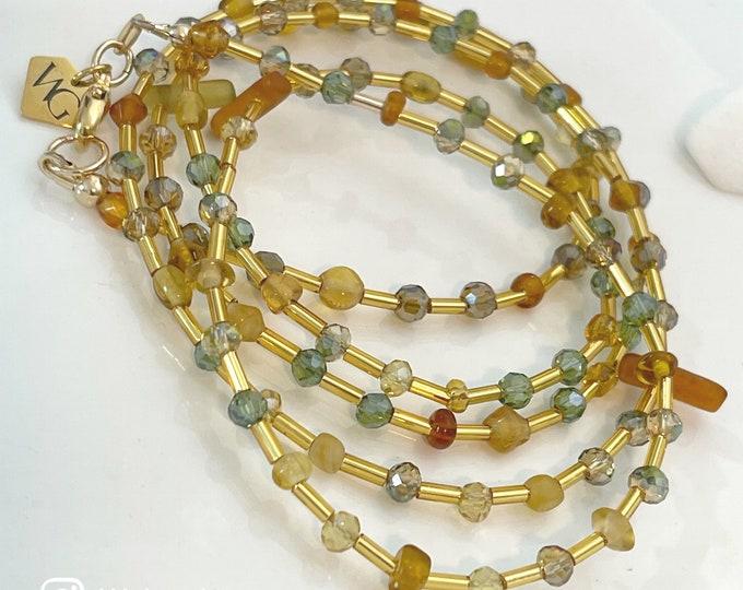 Crystal Waist Beads, Beige Waist beads, Brown Waist Beads, Crystal Waist Beads, Gold Waist Beads, African Waist Beads, Green Waist beads