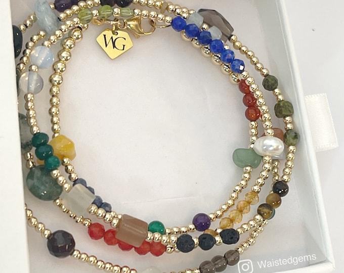 Grown Woman Shit!!! 14k Gold and Gems Waist Beads | African Waist Beads | Crystal Waist Bead | Plus Size Waist Beads | Custom Waist Beads
