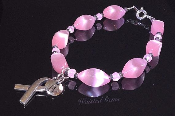 Breast Cancer Awareness Bracelet, Pink Bracelet, Bracelet for her and him, zmw2001