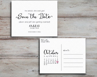 Geometric Patterned Save the Date [PRINTABLE]