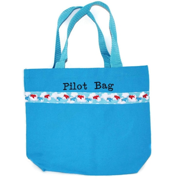 82132273b5 Airplane Tote Bag with Monogram Name Embroidered on it