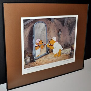 In A Black Picture Frame Vintge Disney Picture From 1998 Disney Lady And The Tramp Lithograph Picture
