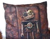 Robot Pillow Case, Steamp...