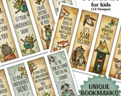Teacher bookmark, Robot Bookmarks, Encouragement Gift, Little reader bookmarks, Bookmarks for kids, Fox bookmark, bookmark, RobinDavisStudio
