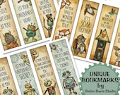Teacher bookmarks, Robot Bookmarks, Cute monster bookmarks, Fox bookmarks, unique bookmarks for kids, Inspiring bookmarks, RobinDavisStudio