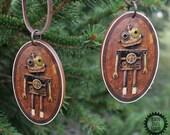 Robot Ornament, Wooden Ro...