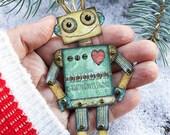 Robot Ornament DIY, Mini ...