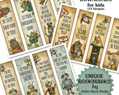 DIY bookmarks, Teacher Bookmarks, printable bookmarks, unique Bookmarks, Encouragement, Robot bookmarks, Fox bookmark, Robin Davis Studio