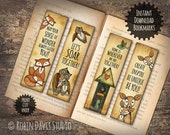 Fox bookmarks, Owl Bookmark, Forest Bookmark, Teacher bookmarks, Cute animal bookmark, Woodland bookmarks, Easter bookmark, RobinDavisStudio