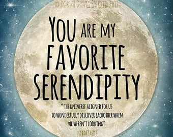 Serendipity Quote Serendipity Printable Wedding favor svg   Etsy