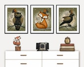 Steampunk Nursery Prints, Steampunk Woodland Prints, Steampunk digital prints, Steampunk Baby Room, Woodland downloads, Robin Davis Studio