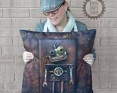 Steampunk Pillow, Robot P...