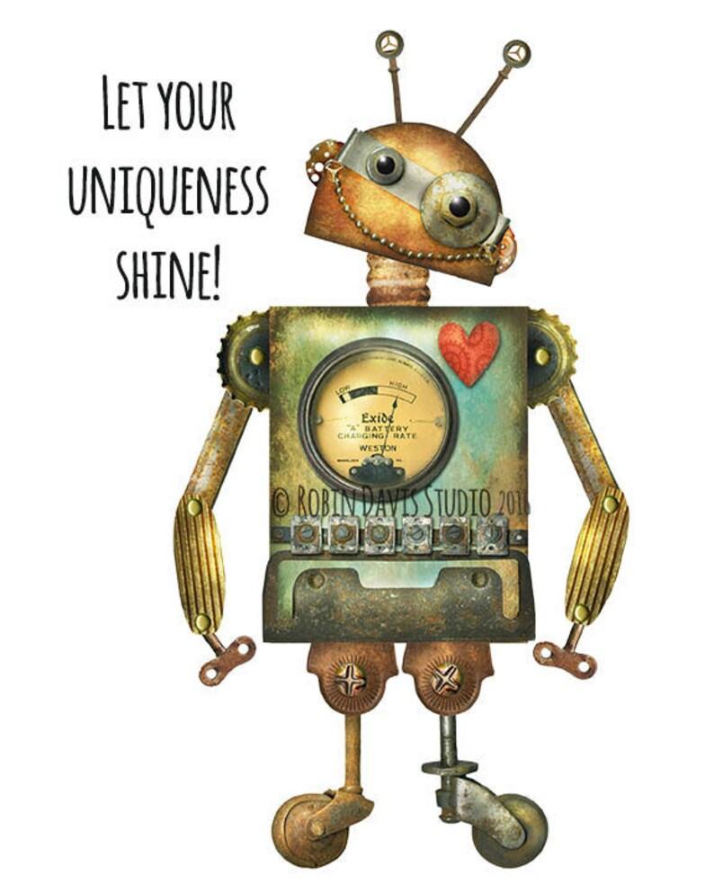photo regarding Robot Printable named Exceptional robotic print, Robotic place Do it yourself, Robotic Printable, Upcycled Robotic print, Retro Robotic printable, interesting robotic printable, Robin DavisStudio
