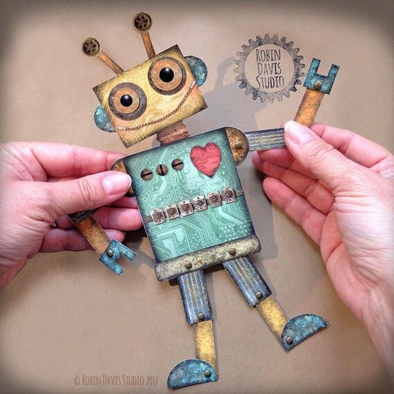 Articulated robot digital robot printable Paper robot | Etsy