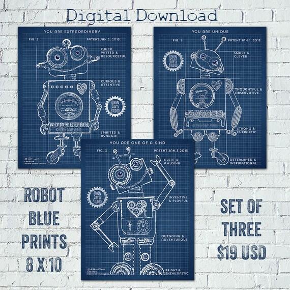 Roboter-Baupläne Roboter-Patent druckbare Roboter | Etsy