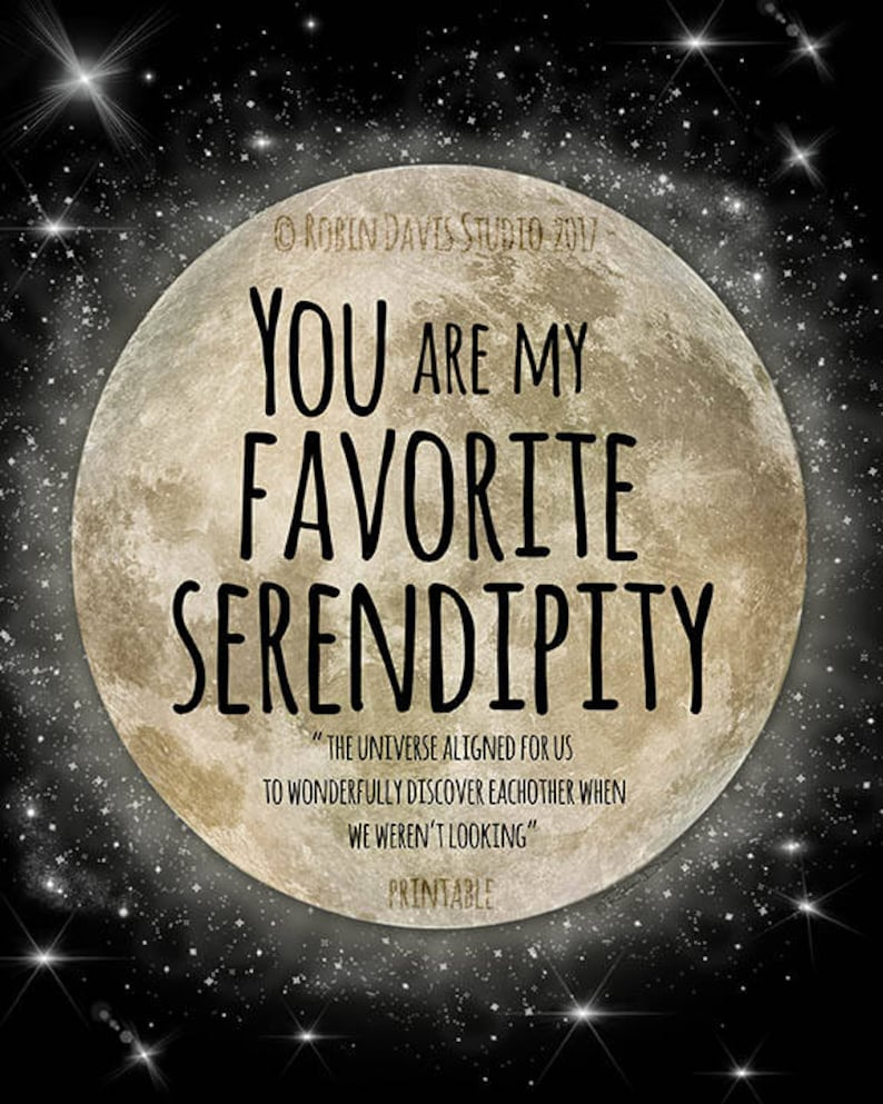 06f72a424bbba Serendipity Quote Serendipity Printable Wedding favor svg