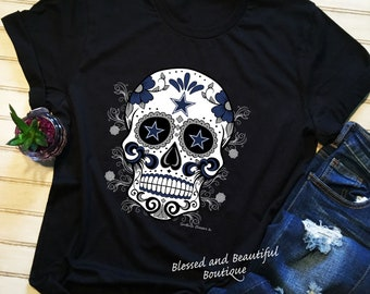 4792e367 Dallas Cowboys Sugar Skull Tee Shirt, sports, teams