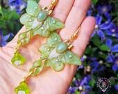 Luna Moth green shimmers wings earrings, Statement butterfly earrings, Gemstone earrings, Nature earrings, Luna moth charm, Butterfly gift