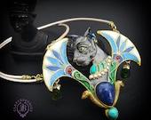 Ancient Egyptian Bast necklace, Egyptian Bastet necklace,Egyptian Cat charm, Amulet Symbol, Egyptian goddess, Talisman Sacred jewellery
