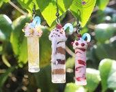 Milkshake earrings Summer earrings Beach earrings Party earrings Ice cream earrings Exotic earrings Fruits earrings Polymer clay jewellery