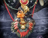 Isis Goddess Ancient Egyptian necklace, Eye of Horus,Egyptian Deities jewellery, Symbol Talisman Sacred Mythology jewellery, Protection gift