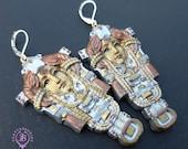 Steampunk Queen statement earrings