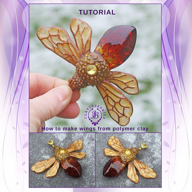 Polymer Clay PDF Tutorial How to make wings from polymer clay image 0