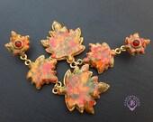 Autumn Maple dangle leaves earrings, Fall Nature inspired earrings