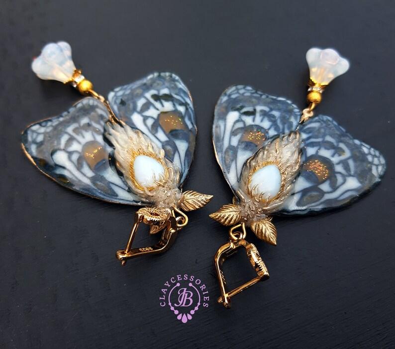 Butterfly earrings in Art Nouveau style image 0
