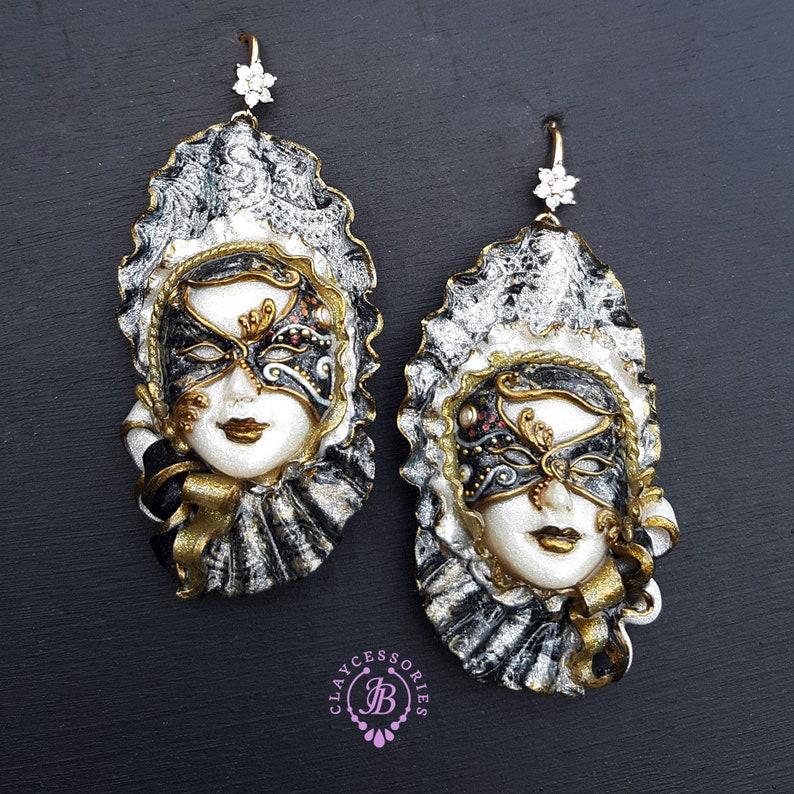 Venetian masquerade masks earrings image 1