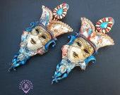 Venetian mask bohemian earrings