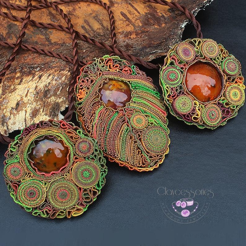 Autumn necklace Fall necklace Autumn jewellery Woodland image 0