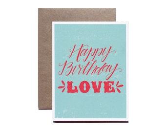 Happy Birthday Love, Birthday Card