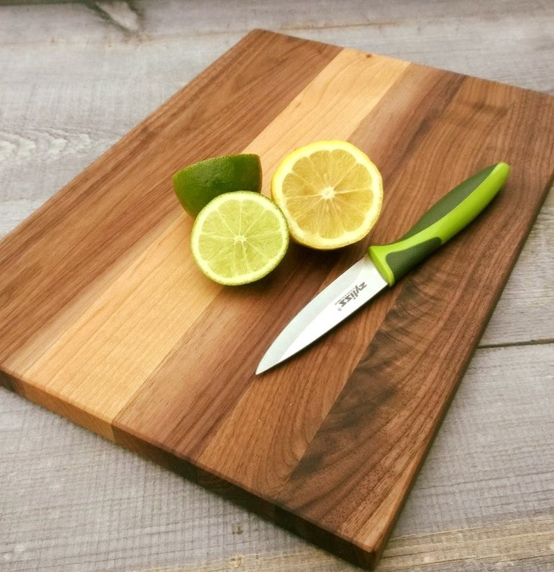 Mixed Wood Cutting Board Exotic Woods Unique Cutting Board Walnut Alder  Chopping Block Soda Creek Food Safe