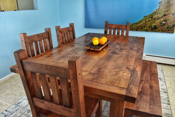 Custom Dining Table Set, Wood Dining Room Table Chairs